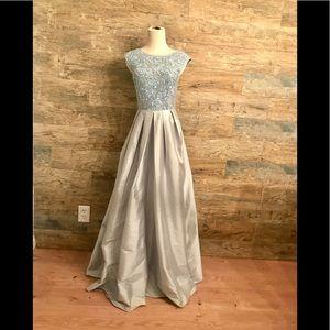 54761265c30a1 Aidan Mattox Dresses - Aidan Mattox floral beaded bodice taffeta gown